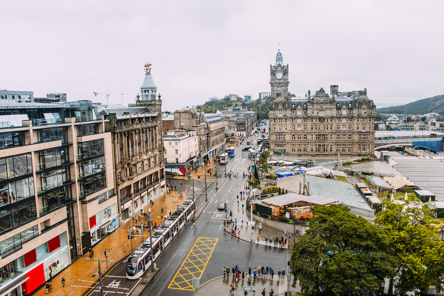 Princes Street of Edinburgh