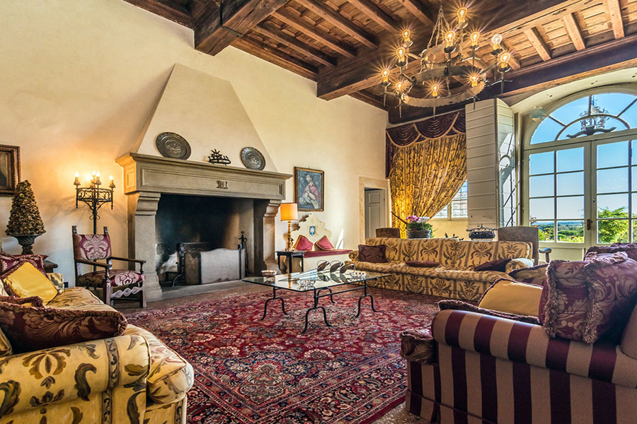 Massa Pisana, about $7.4 million: Situated on a 49-acre estate with vineyards and olive trees, this v