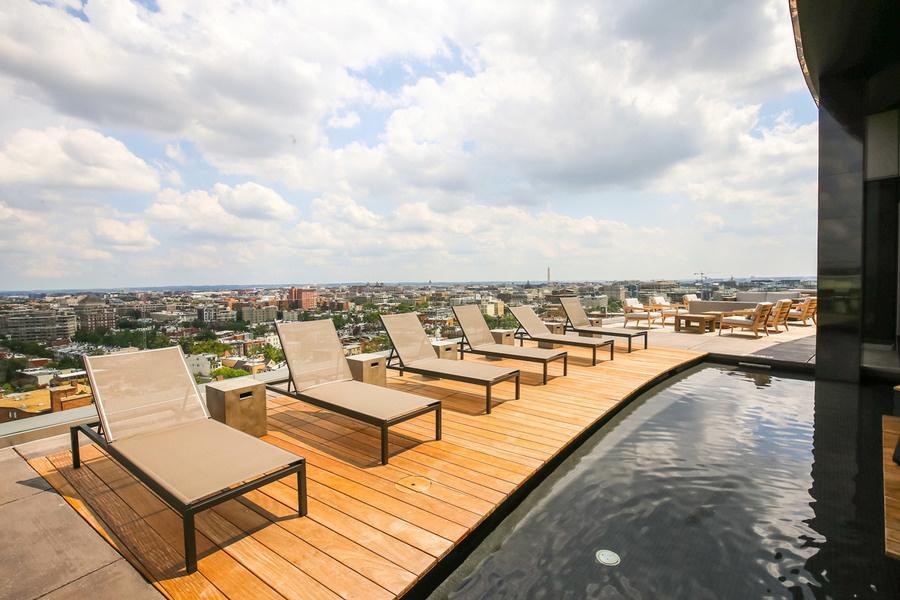 The Hepburn's rooftop pool.