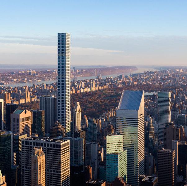 图为西半球第一高住宅楼公园大道432号。