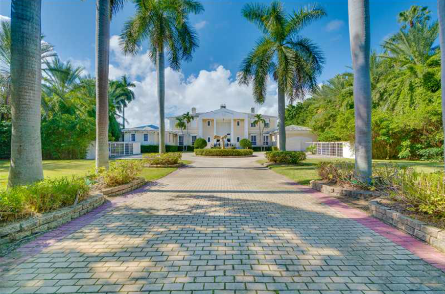 Whitehall is one of the largest land areas available on Miami Beach, according to the listing.