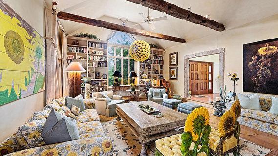 每日豪宅   以向日葵为主题的纽约长岛庄园