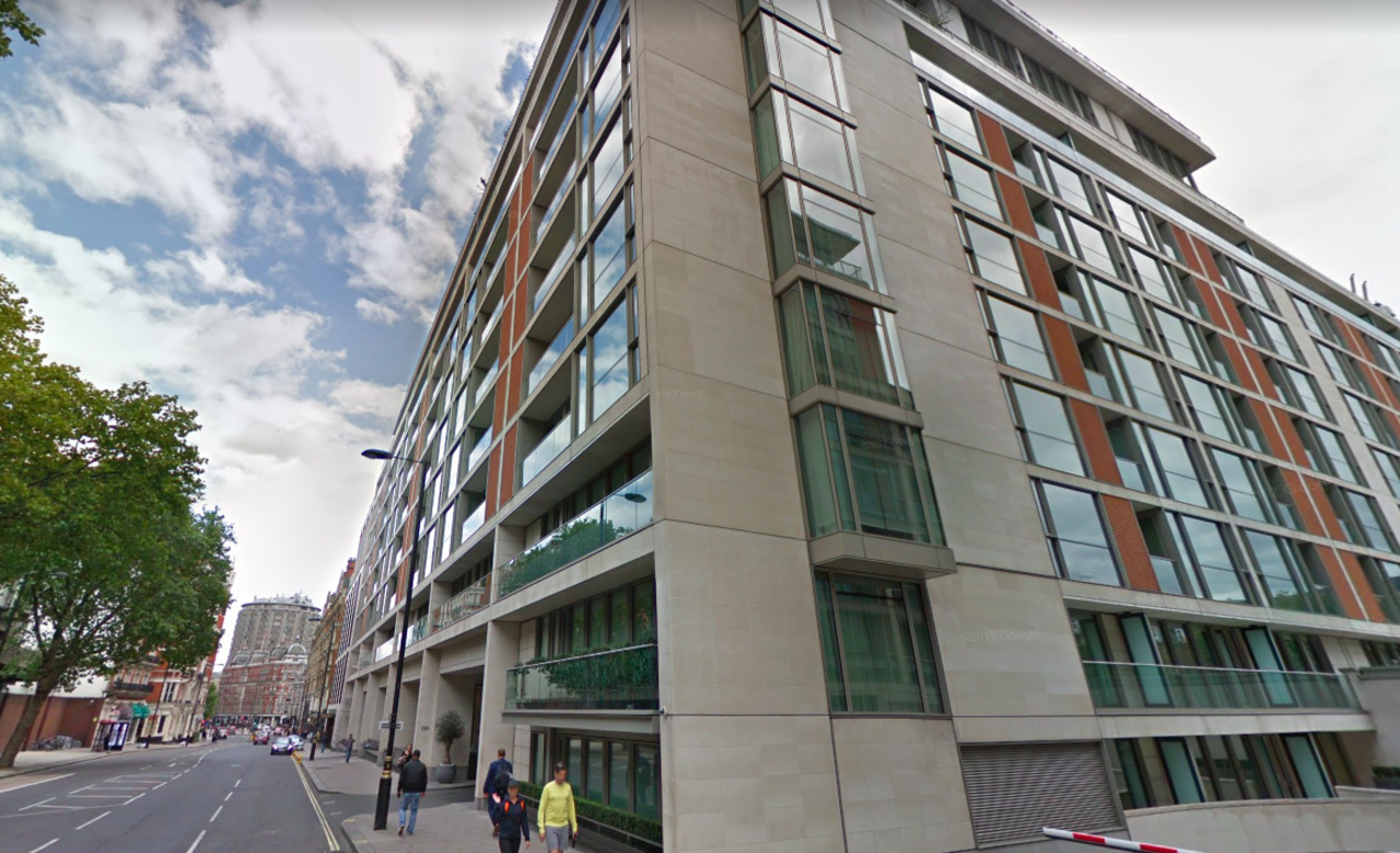 The Knightsbridge, en Londres, donde Ashley Tabor compró un departamento de £90 millones a principios