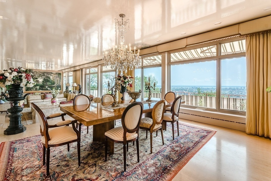 This seven bedroom home, currently asking for $7.52 million, is perched atop a 38,000 sq. ft. hill an