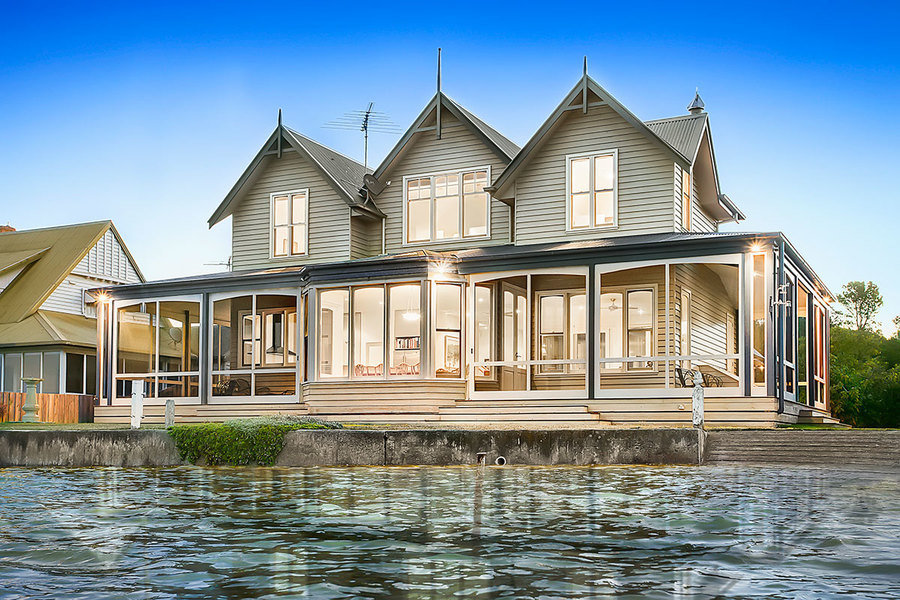 This Barwon Heads home is listed with A$4,650,000 to A$4,900,000 expectations and is one of only 25 p