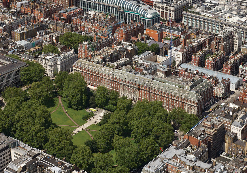 Aerial view of Grosvenor Square