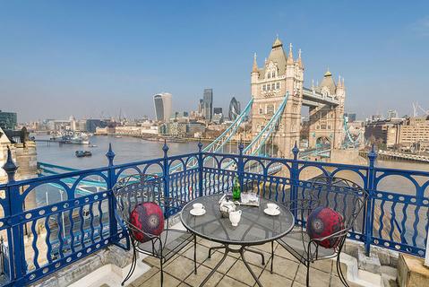 每日豪宅 | 视野绝佳的伦敦泰晤士河畔顶楼公寓