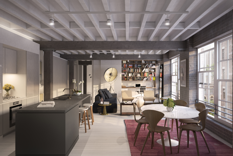 The New York-style warehouse apartments will be completed this year.<br />