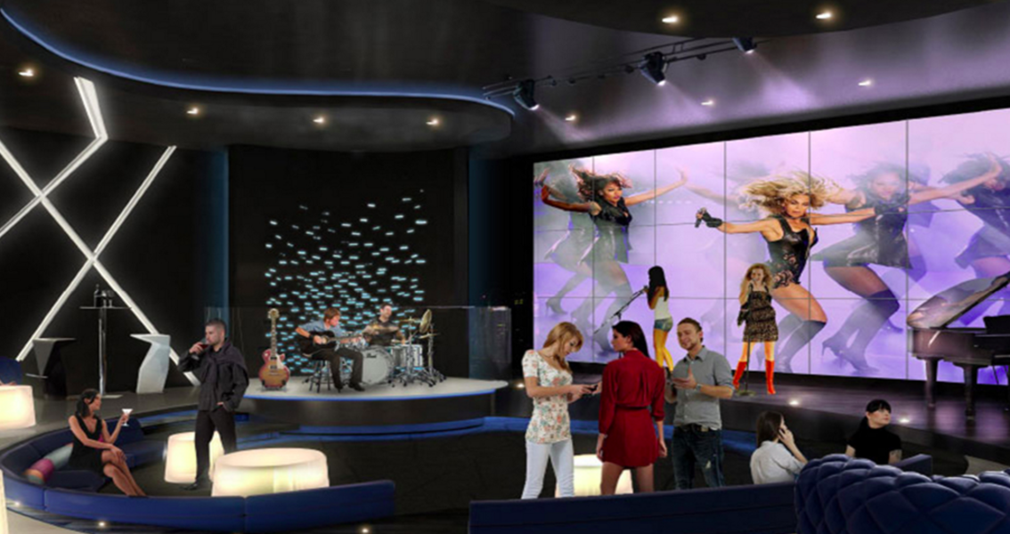 A rendering of the music room at Paramount Miami Worldcenter.