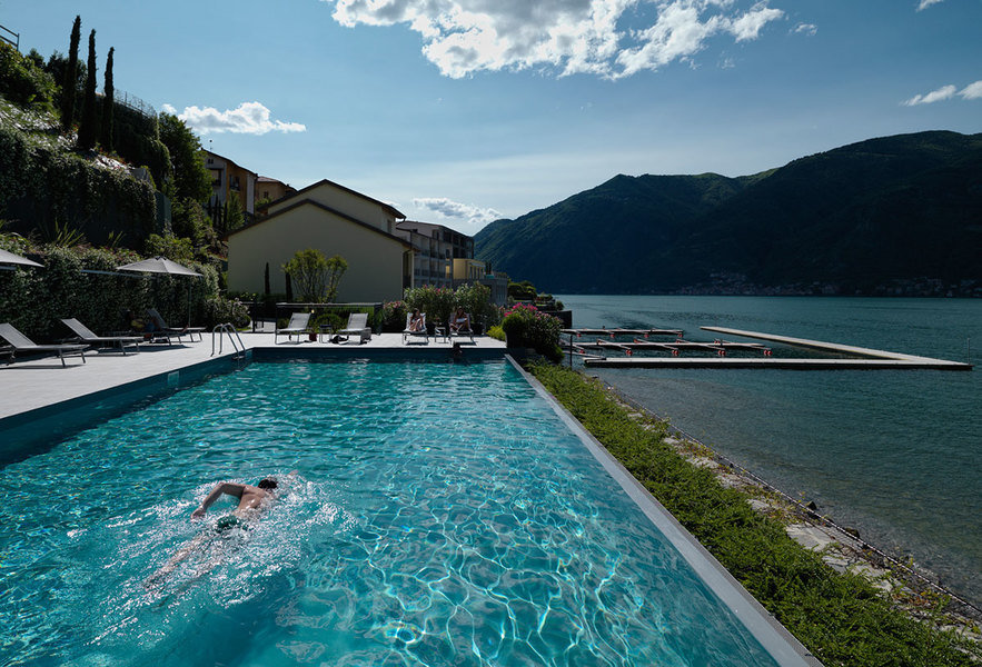Outdoor amenities of Bellagio Lake Resort, a development set along one of the most picturesque areas